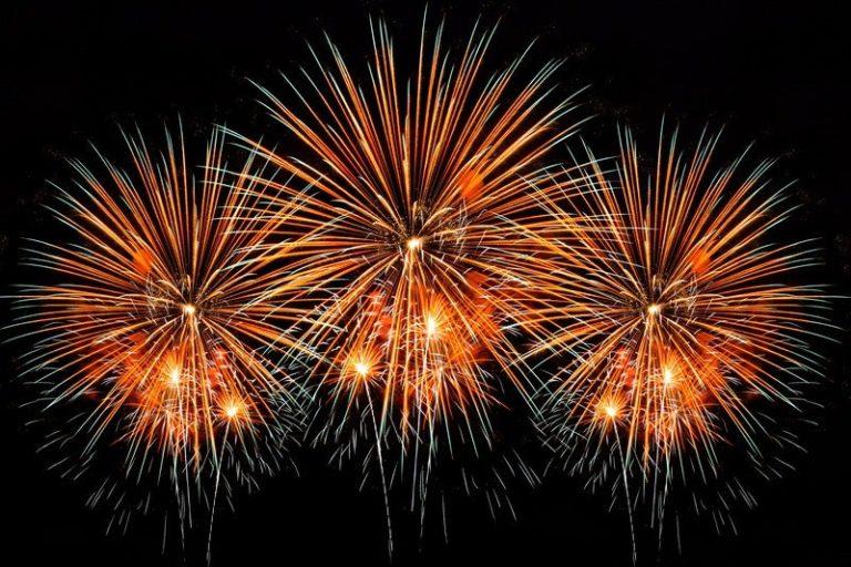 Fireworks show in Corona 2003