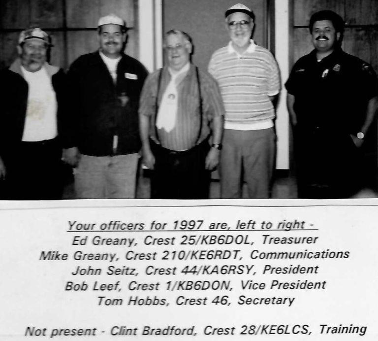 CREST Officers – 1997