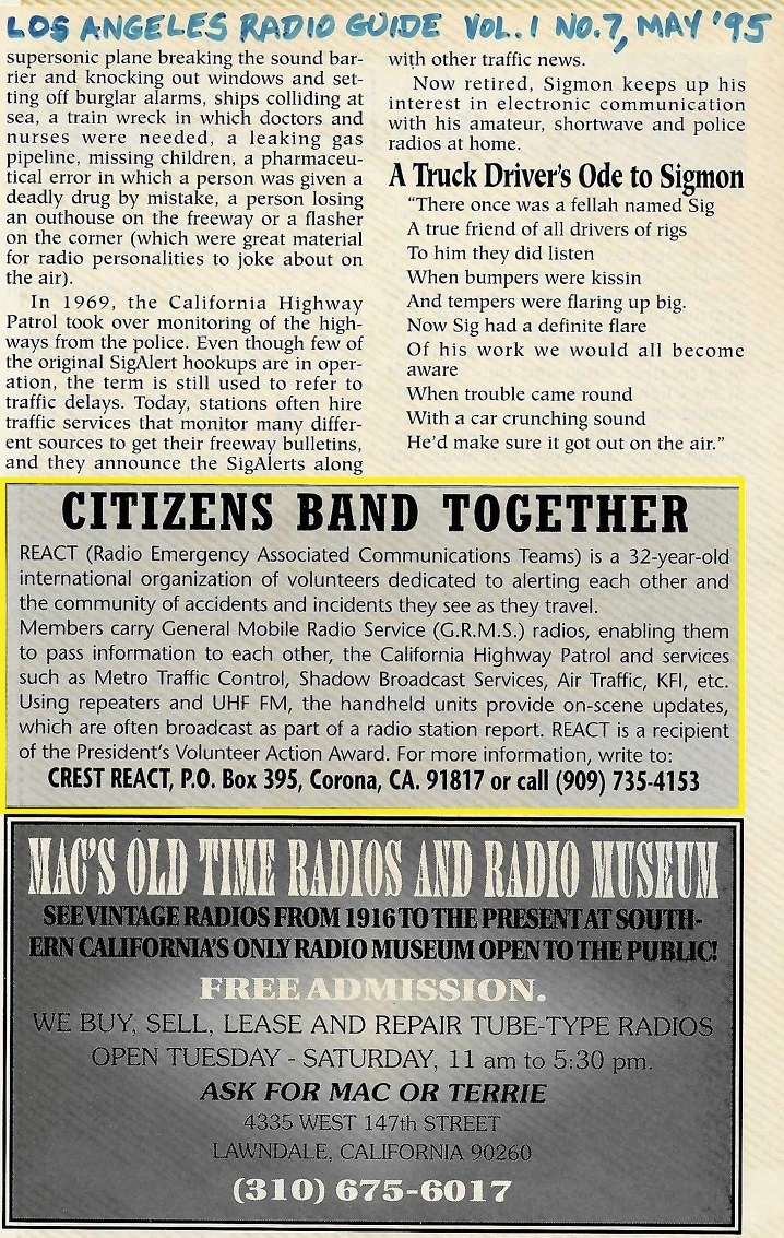 Citizens Band Together – May 1995